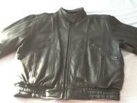 Men's  Motorcycle Leather Jacket Mega Force Brand