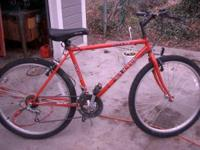 Good bike, works great, tough. Shamano components,