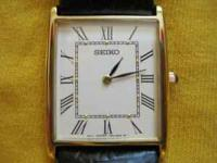 Men's Seiko Dress Watch. Approx 2 yrs old. A very thin,