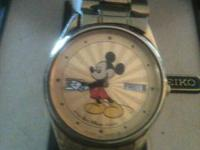 Men's Seiko Mickey Mouse Watch with original Seiko