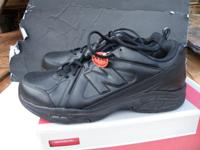 """New Balance"" men's shoes for sale. Black Leather Size"