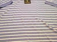 Brand New Carolina Blue & White Striped Pattern Ralph