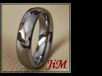 men's titanium tungsten faceted ring. brand new and