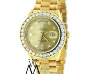 Men's Used Rolex President Gold Day-Date 18038 Diamond