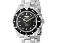 Invicta 8926 pro diver watch, stainless steel, black