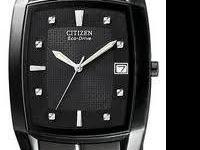 Citizen Watch, Men's Eco-Drive Black Stainless Steel