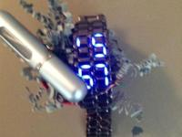 Men's Ninja stlye LED watch Cologne atomizer make any