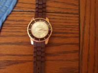 #1--Men's watch (brown/gold)---needs a new