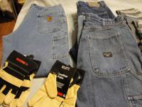 1- pair carhartt flannel lined jean's 38 w x 30