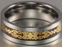 Handsome guys's 8mm Tungsten Carbide Celtic band Ring.