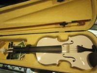 I have for sale a Mendini 3/4 white Violin available.
