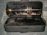 B flat Student Trumpet Silver, with case Does not have