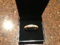 Mens 14kt Solid gold diamond wedding band. Never worn.