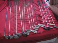 Mens and Ladies Golf Clubs $3 apiece and $4 for the