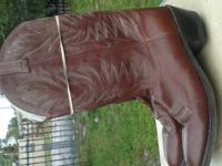 Mens brand name leather cowboy boots sizes 8,9,10,11,12