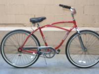 beach cruiser, oceanside, chrome wheels and forks, hot
