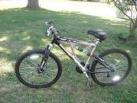 mens bike, barely ridden! call  anytime! will send pic