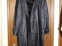 I'm looking to get rid of my Men's Black Leather Trench