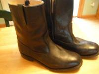 brand new boots 10 1/2 D work and sport side zip paid