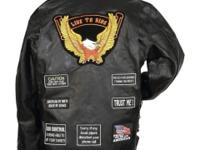 "Genuine Buffalo Leather ""Hell Yeah"" Motorcycle Jacket"