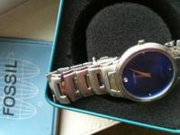This is a gently used model # fs3004 fossil watch w/