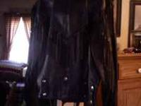 Mens leather coat size med asking 75.00 OBO  No txt