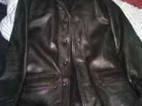 Mens Leather Half Trench Style Coat $20 call or text