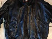 Men's leather jacket with removable liner. Great
