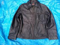 near new members mark lined jacket , all leather , cost