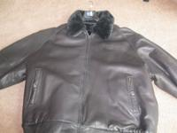 Phat Pharm 3x men's leather and fur reversible jacket.
