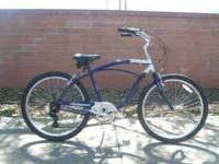 Mens 7 spd Jaguar beach cruiser, light 19in frame, has