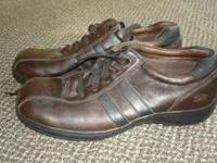 Men's Sketchers dress shoes-brown/black-worn