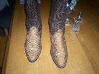 I have a pair of mens rattle snake boots that ive worn
