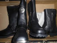 2 BRAND NEW PAIR OF MENS LEATHER HARLEY DAVIDSON BOOTS