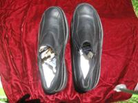 For sale is a like new pair of hushpuppie black leather
