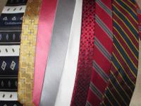 Lot of 8 men's ties. The one on the far left and red