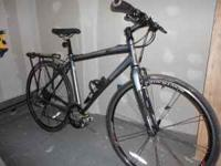 """20"""" FRAME BLACK AND SILVER REAR RACK COMPUTER 27 GEARS"""