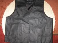 Genuine leather riding or dress vest.  In very
