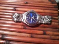 "Fossil ""Blue"" Stainless steel Mens watch. no"