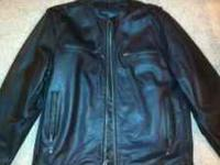 Pre-owned Mens XL Leather riding jacket. Streetsteel is