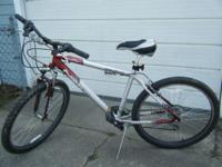 "Nice 4 month old bike - 26"" mountain bike. The seat in"
