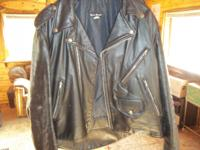 Mens leather motorcycle jacket  STEER BRAND size EX