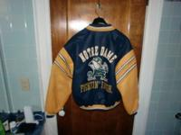 Mens' Notre Dame University insulated leather jacket