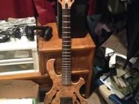 customized 7-string semi-hollow guitar made by Polish
