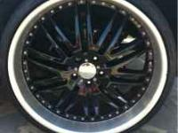 I have a set of 4 22 inch black rims made by menzari.