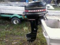 MOTOR RUNS GOOD, LOOKS GOOD, 6-HP.,TILLER HANDLE, TEXT