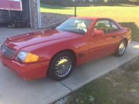 Nice 1992 Mercedes 500SL Hardtop Convertible. Has both