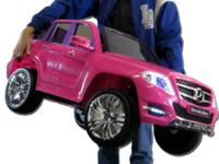 Mercedes Benz GLK 300 SUV Pink Electric Ride-On Toy