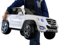 Mercedes Benz GLK 300 SUV White Electric Ride-On Toy