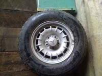 4 wheels with tires plus 1 extra wheel 14inch alloy